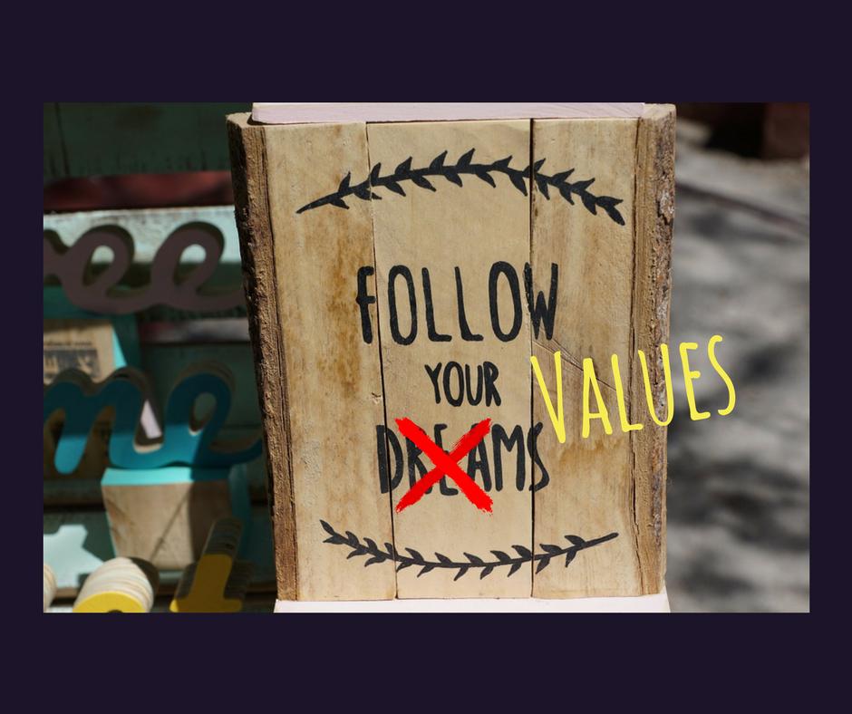 Segui i tuoi valori